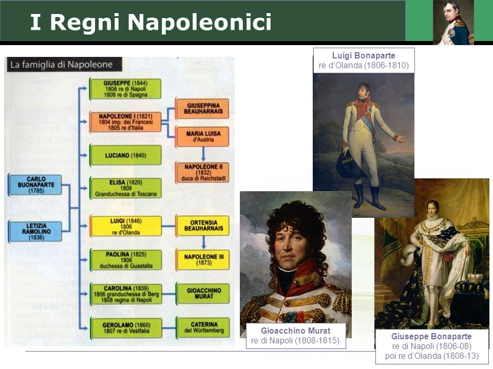 I Regni Napoleonici Luigi Bonaparte re d'Olanda (1806-1810)