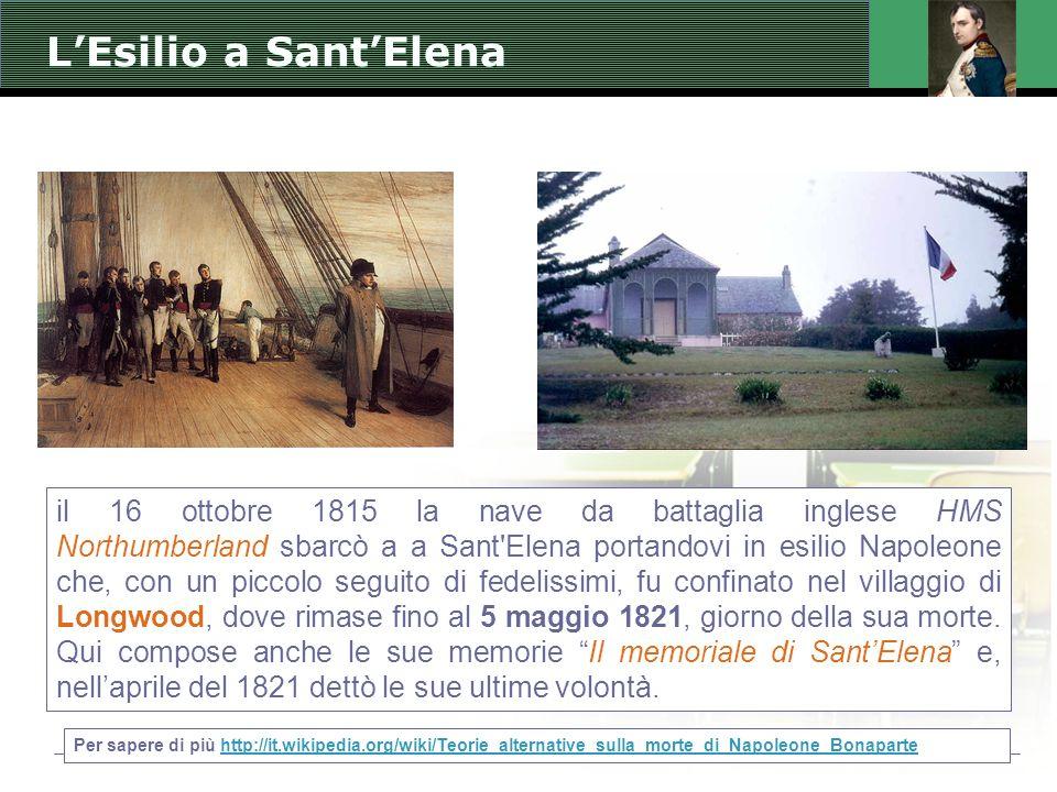 L'Esilio a Sant'Elena
