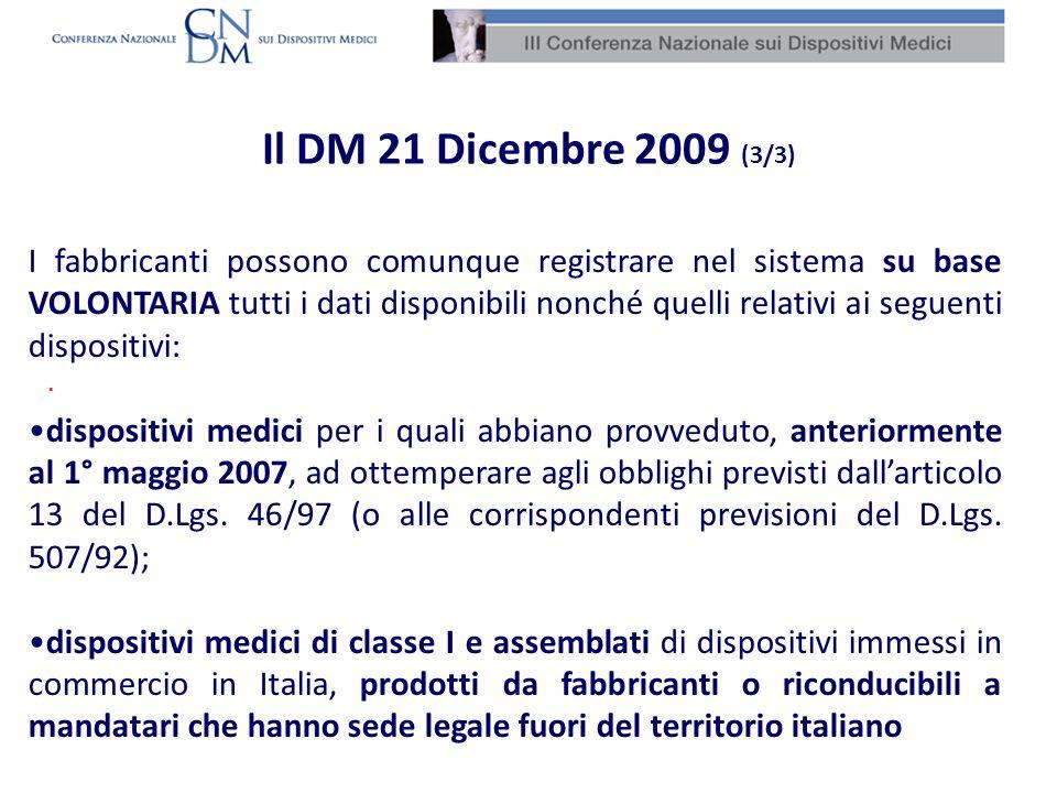 Il DM 21 Dicembre 2009 (3/3) Banca i DM.