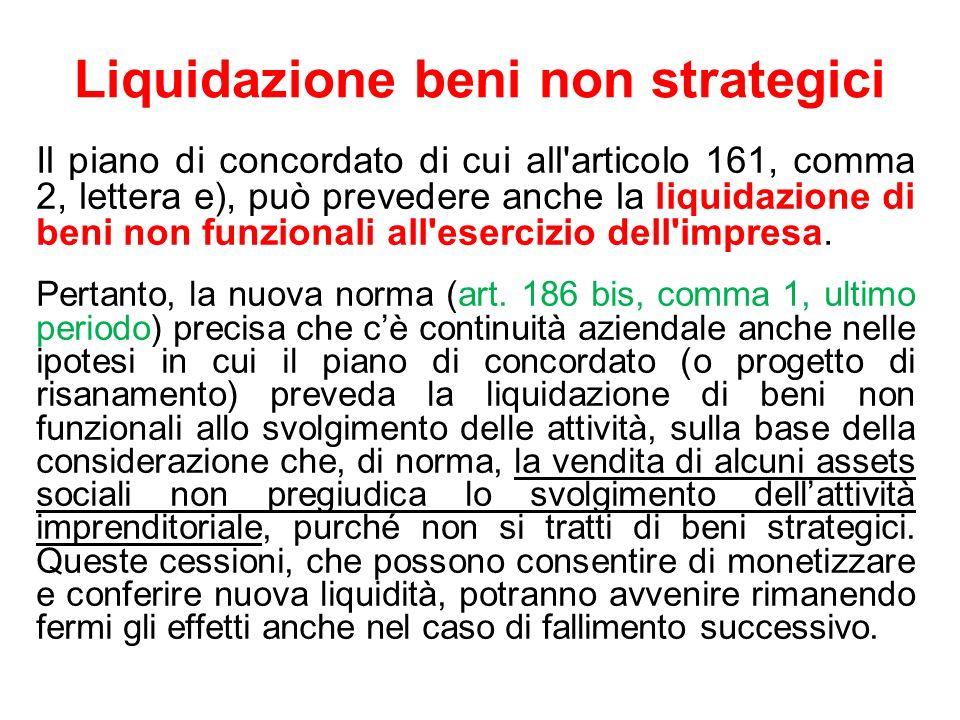 Liquidazione beni non strategici