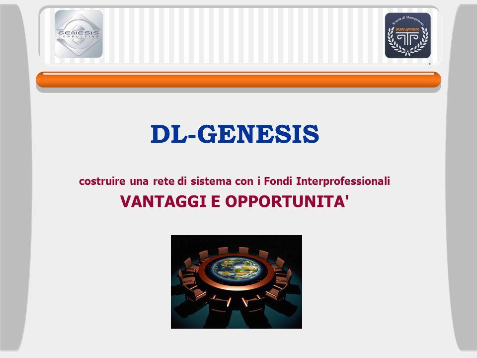 DL-GENESIS VANTAGGI E OPPORTUNITA