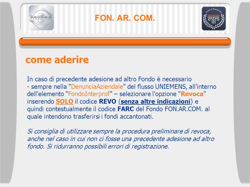 FON. AR. COM. come aderire.