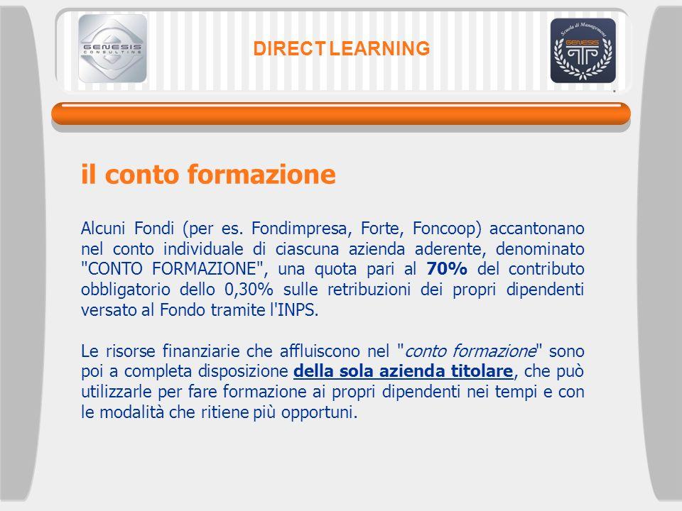 il conto formazione DIRECT LEARNING