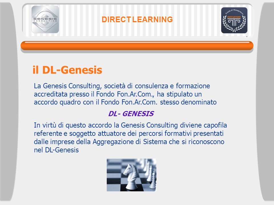 il DL-Genesis DIRECT LEARNING