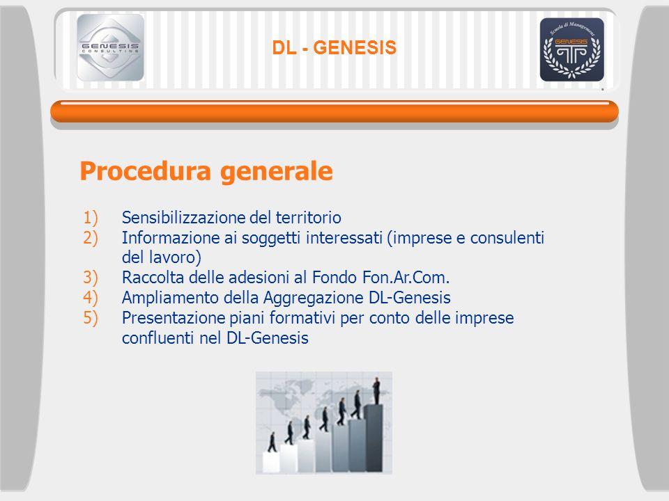 Procedura generale DL - GENESIS Sensibilizzazione del territorio