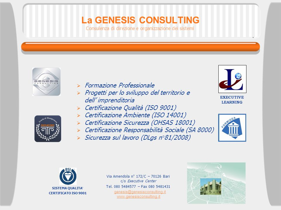 genesis@genesisconsulting.it www.genesisconsulting.it