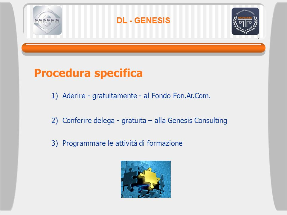 Procedura specifica DL - GENESIS