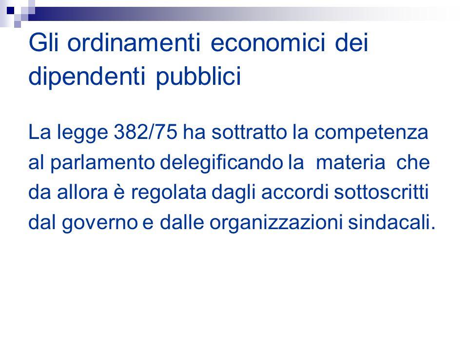 Gli ordinamenti economici dei dipendenti pubblici