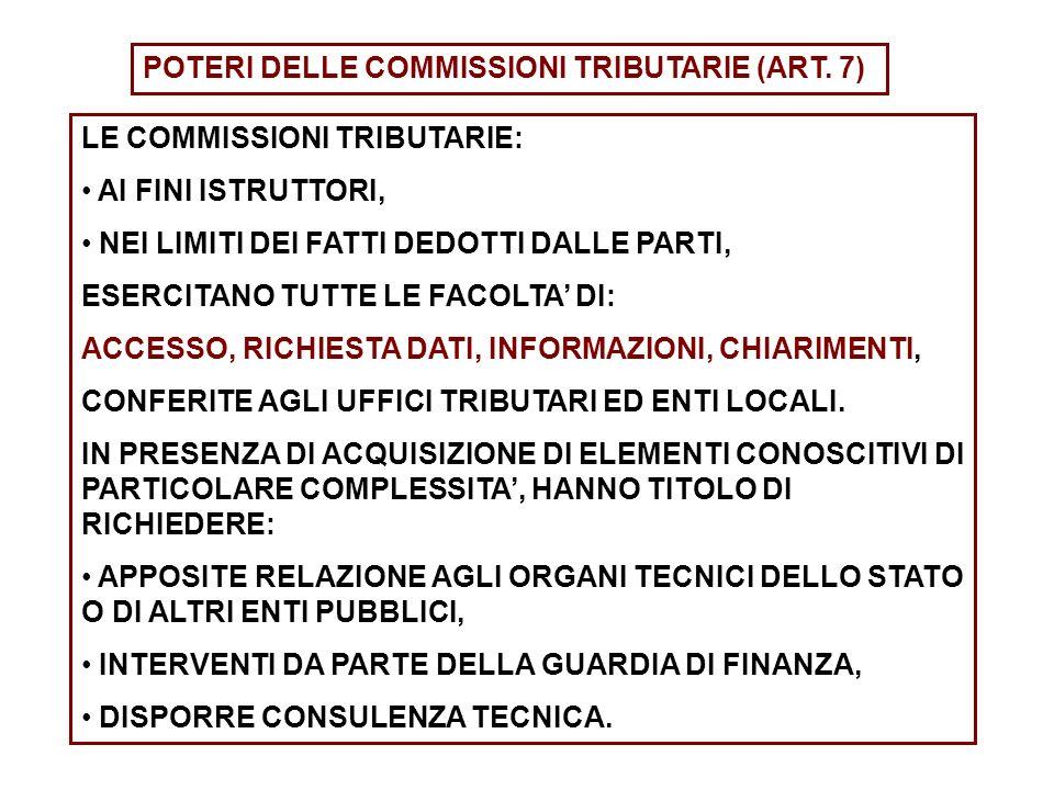 POTERI DELLE COMMISSIONI TRIBUTARIE (ART. 7)