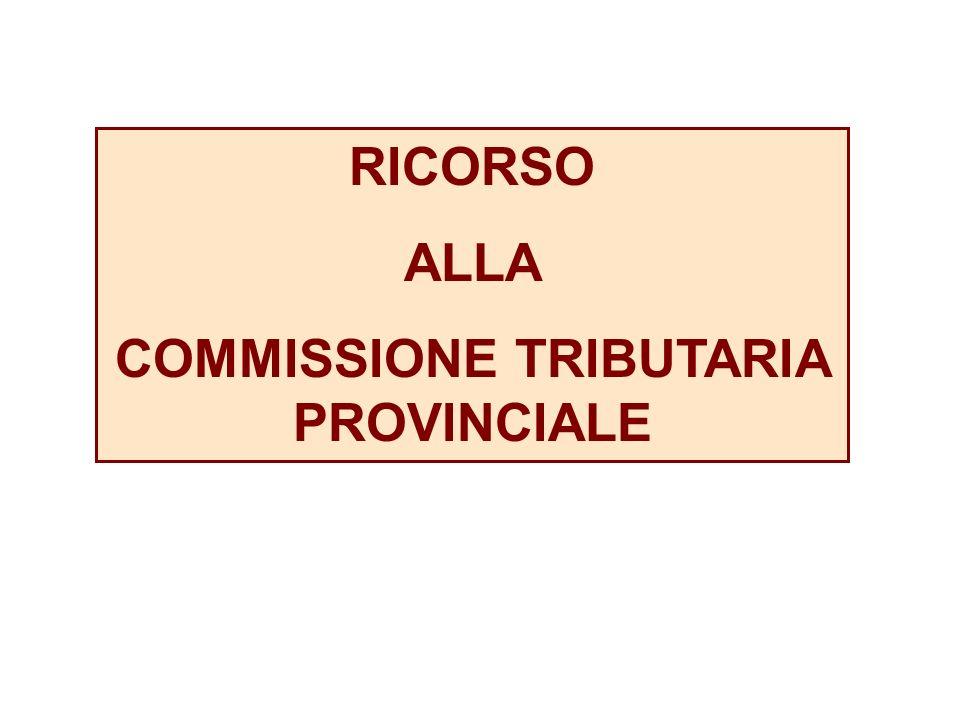COMMISSIONE TRIBUTARIA PROVINCIALE