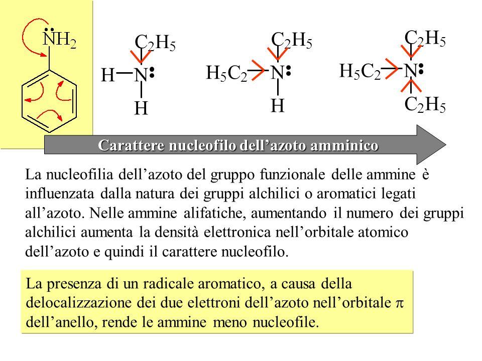Carattere nucleofilo dell'azoto amminico