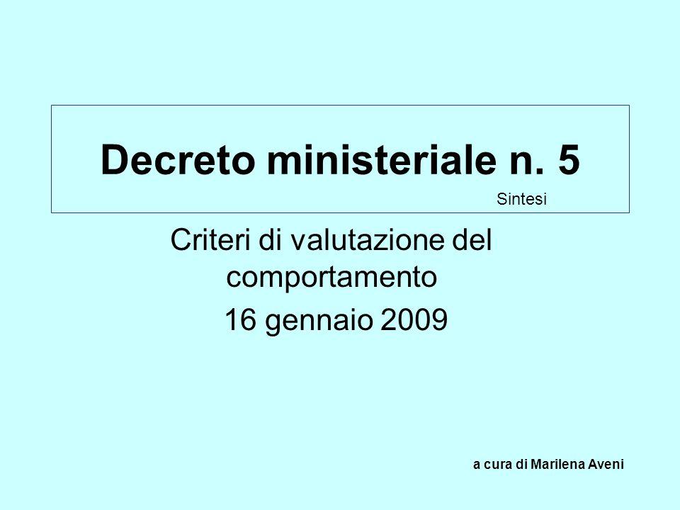 Decreto ministeriale n. 5