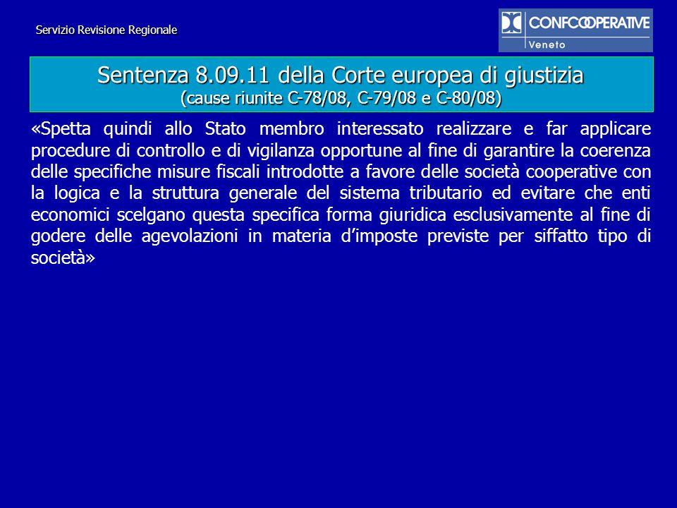 Sentenza 8.09.11 della Corte europea di giustizia