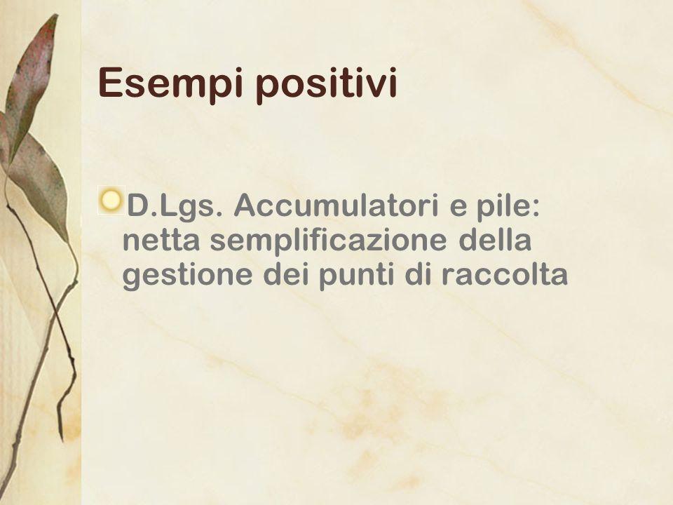 Esempi positiviD.Lgs.