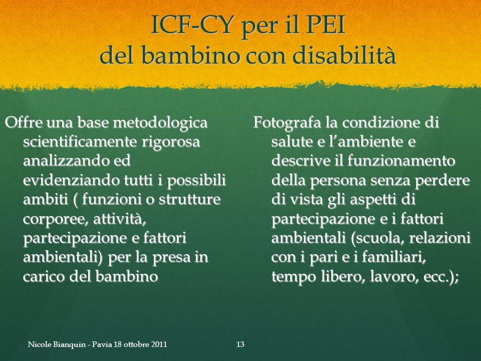 ICF-CY per il PEI del bambino con disabilità