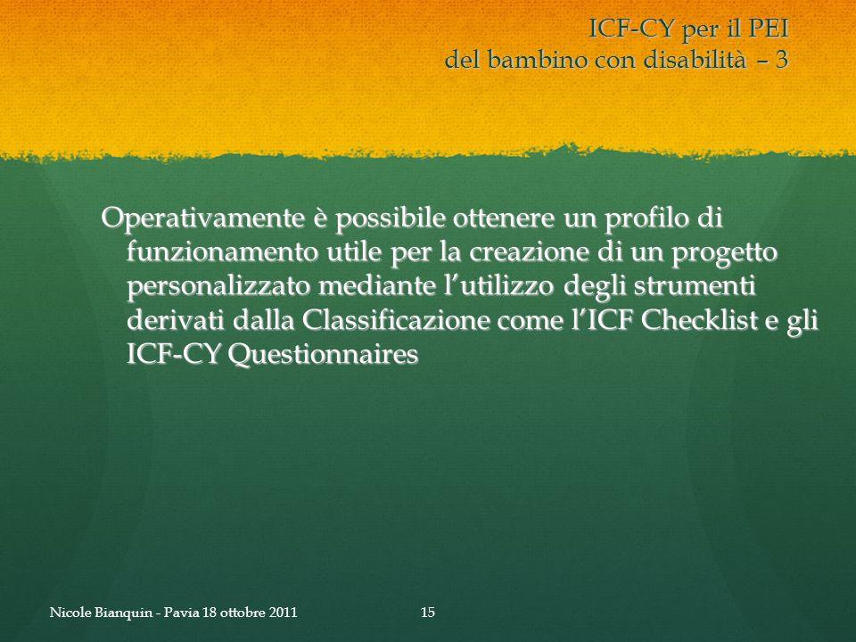 ICF-CY per il PEI del bambino con disabilità – 3