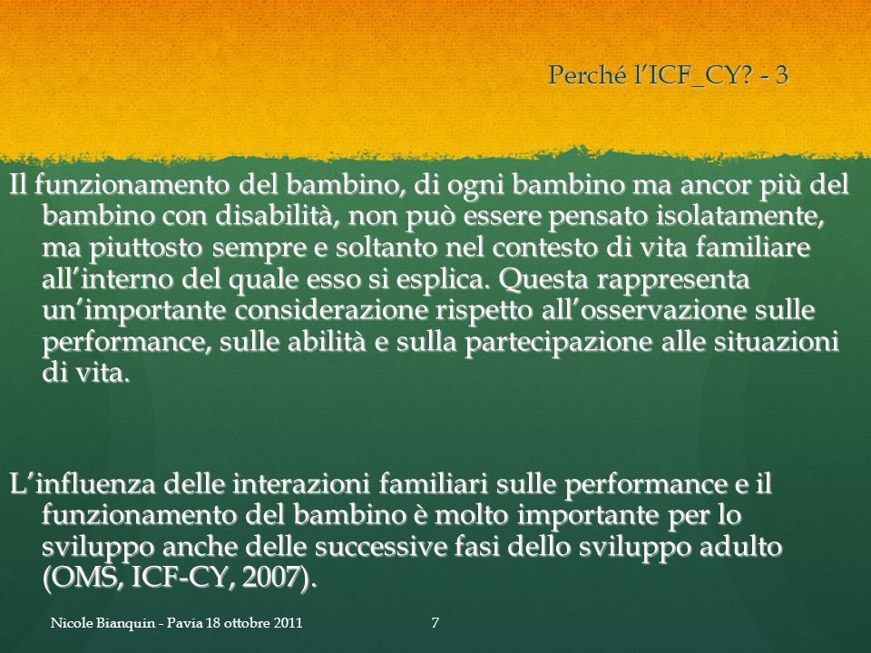 Perché l'ICF_CY - 3