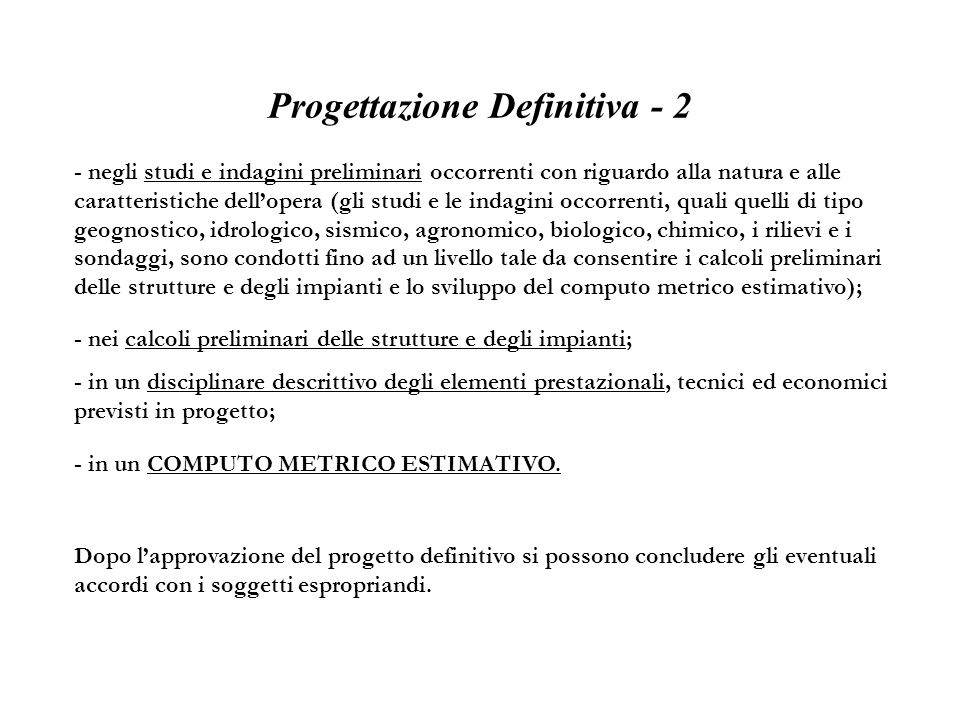 Progettazione Definitiva - 2