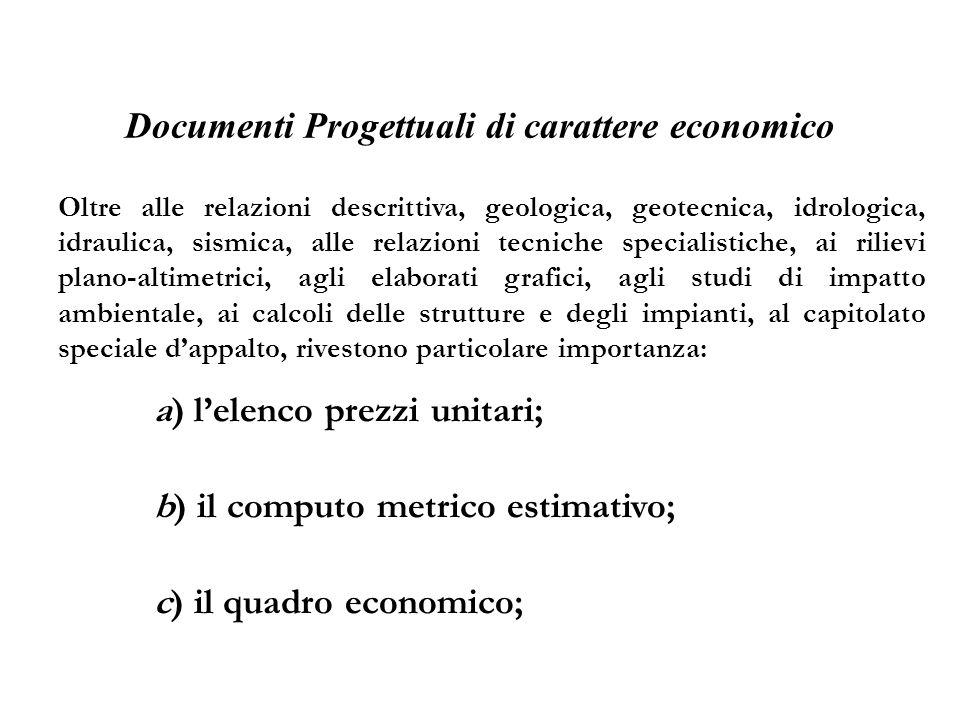 Documenti Progettuali di carattere economico
