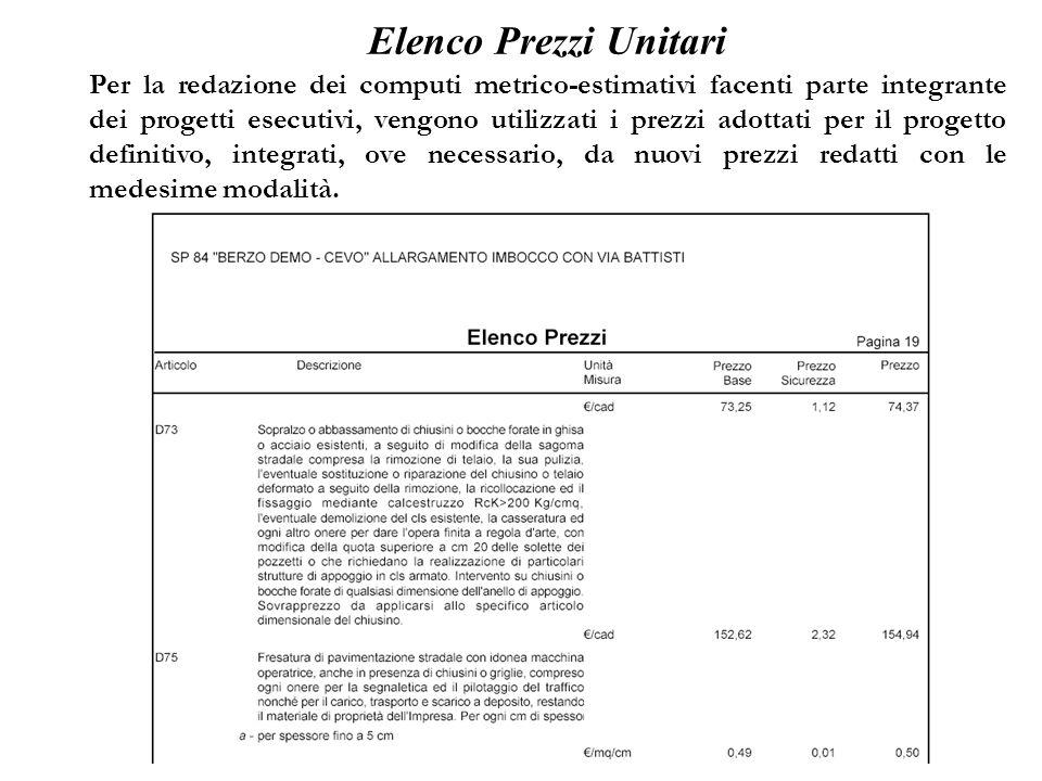 Elenco Prezzi Unitari