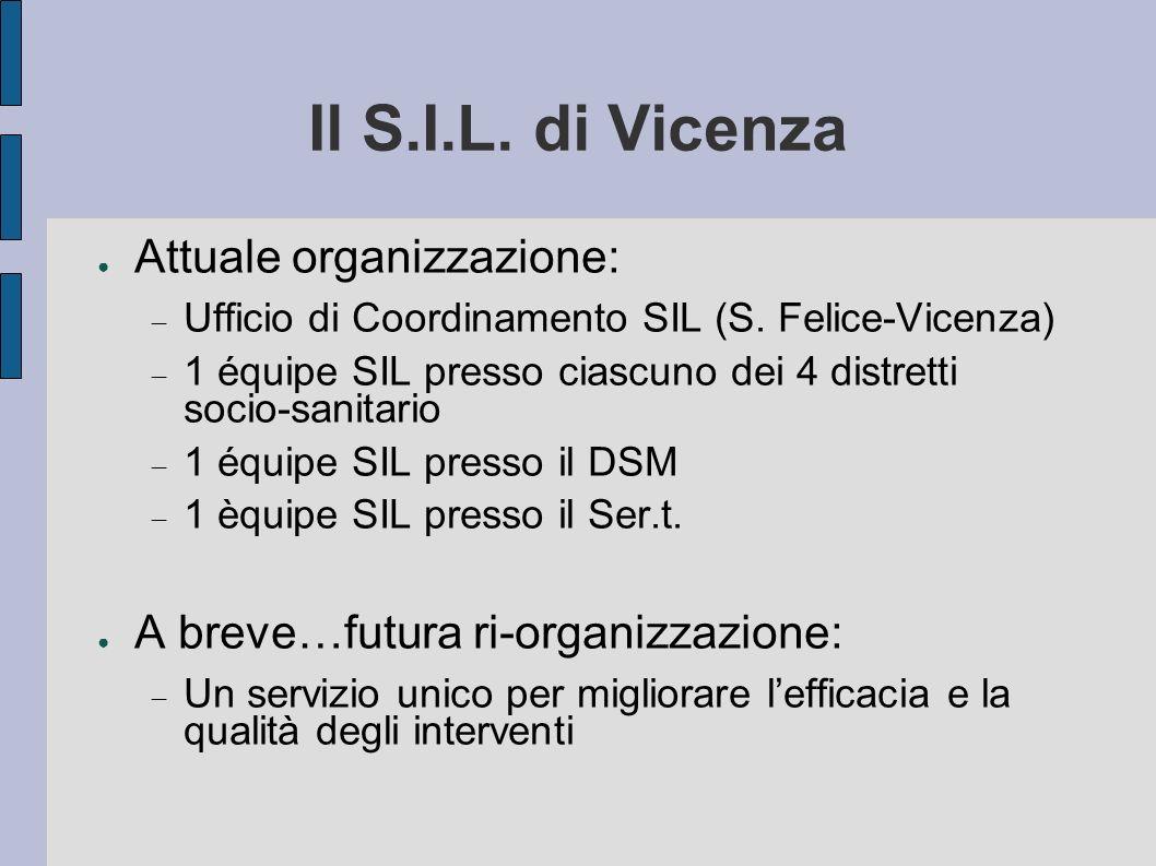 Il S.I.L. di Vicenza Attuale organizzazione: