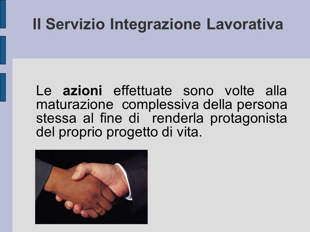 Il Servizio Integrazione Lavorativa