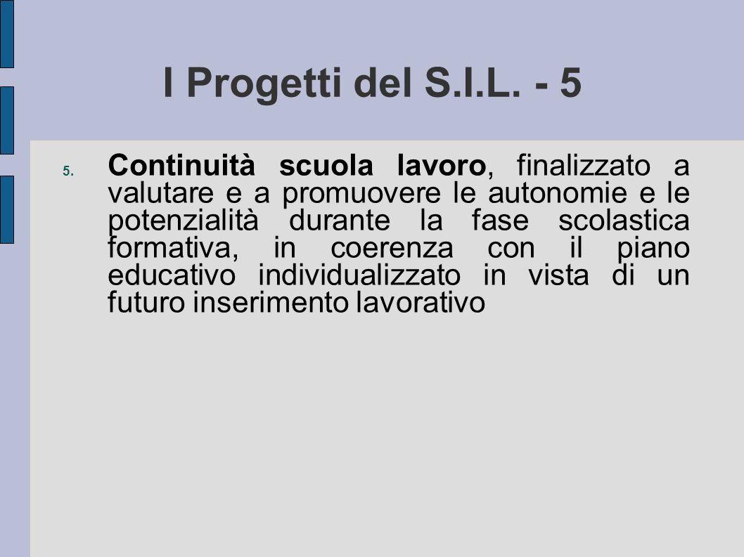 I Progetti del S.I.L. - 5