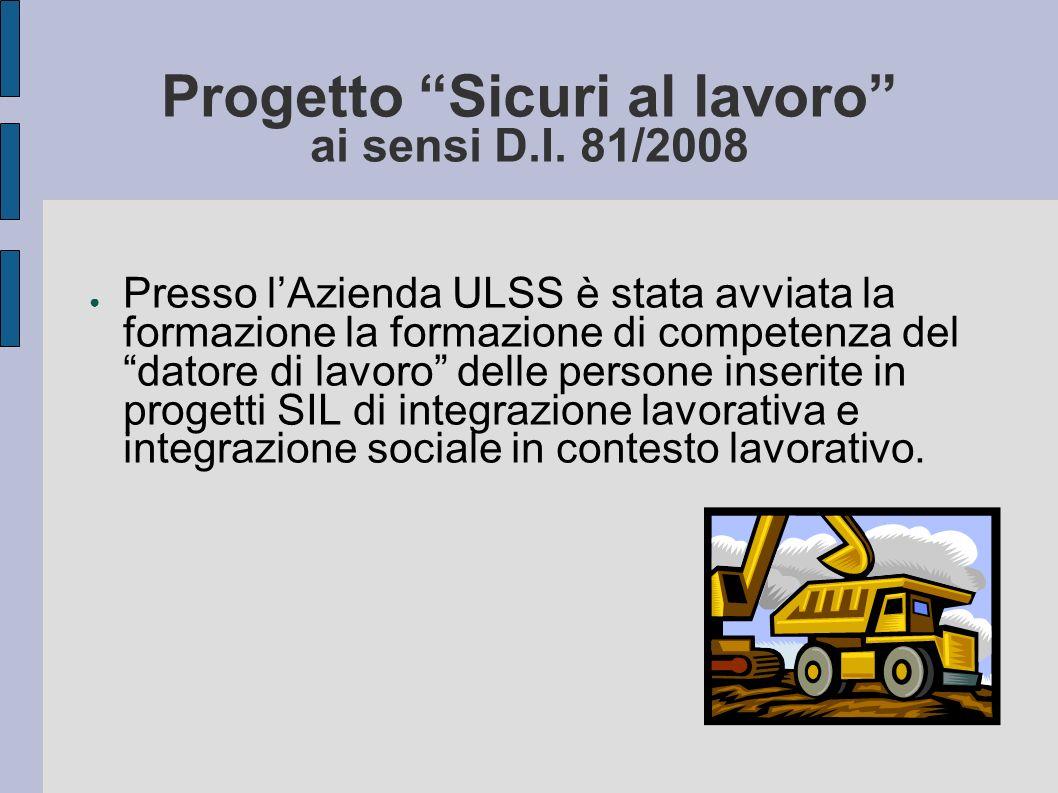 Progetto Sicuri al lavoro ai sensi D.I. 81/2008