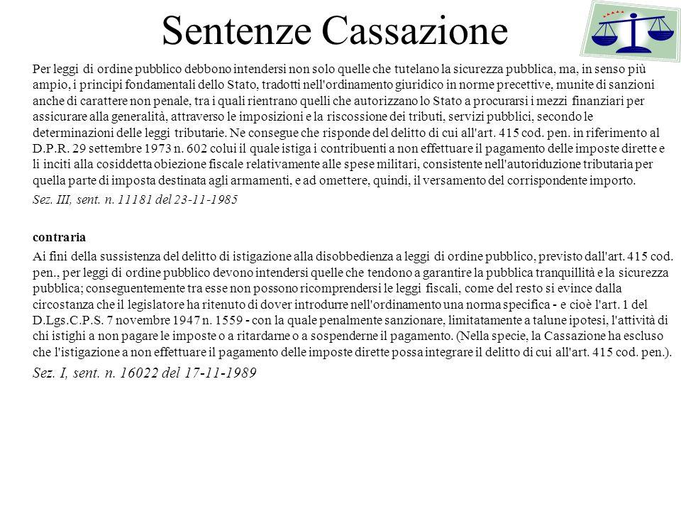 Sentenze Cassazione Sez. I, sent. n. 16022 del 17-11-1989