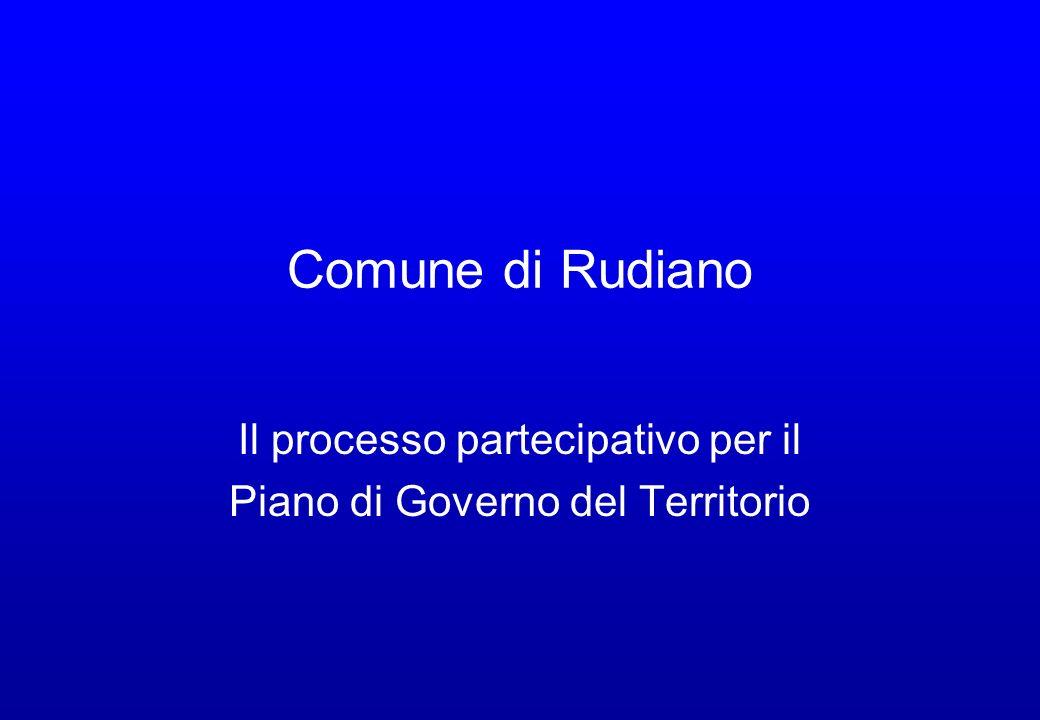 Il processo partecipativo per il Piano di Governo del Territorio