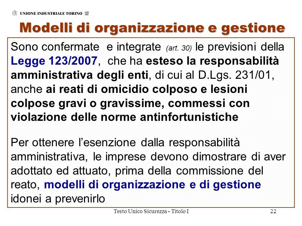 Modelli di organizzazione e gestione