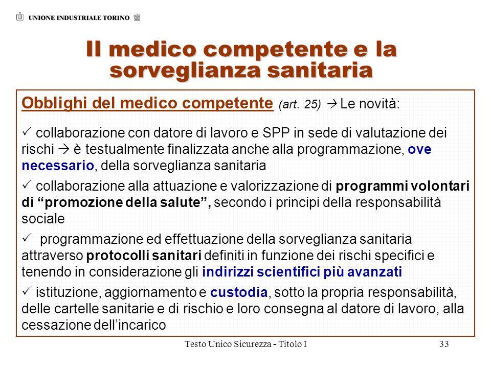 Il medico competente e la sorveglianza sanitaria