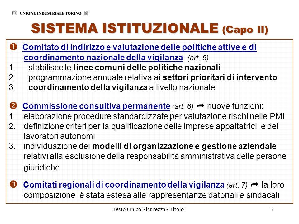 SISTEMA ISTITUZIONALE (Capo II)
