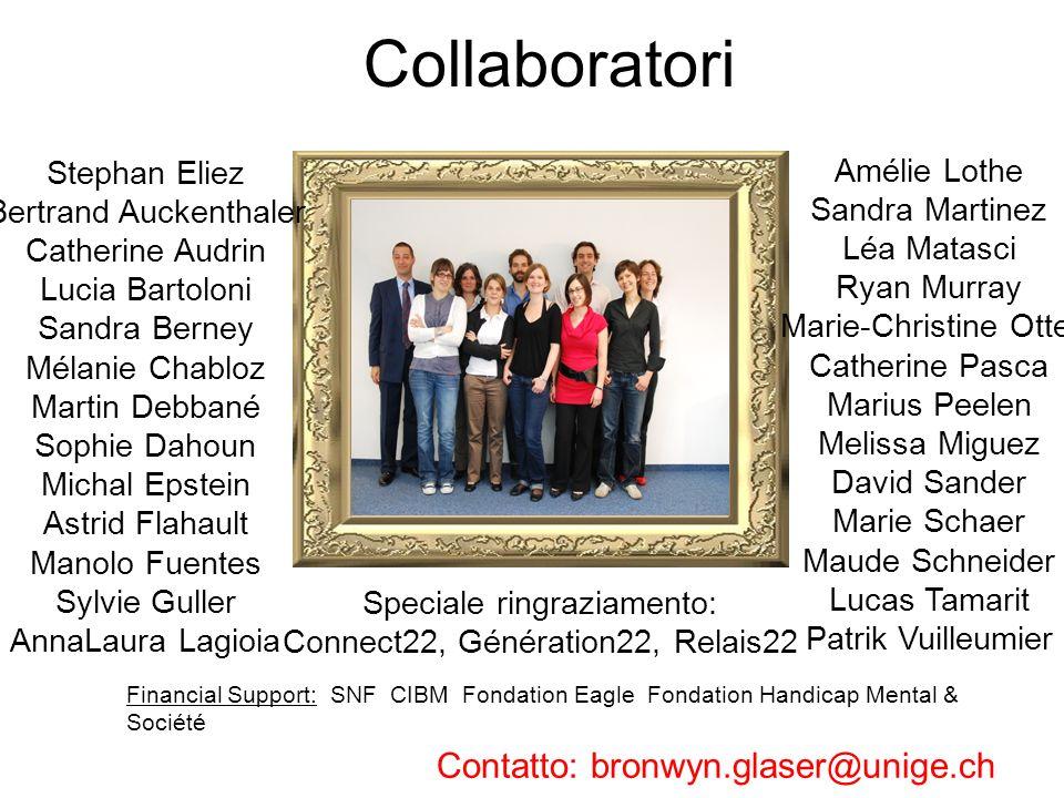 Collaboratori Contatto: bronwyn.glaser@unige.ch Stephan Eliez