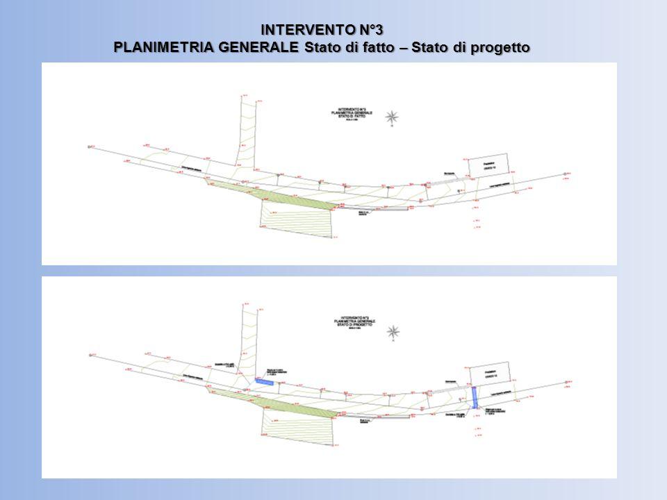 INTERVENTO N°3 PLANIMETRIA GENERALE Stato di fatto – Stato di progetto
