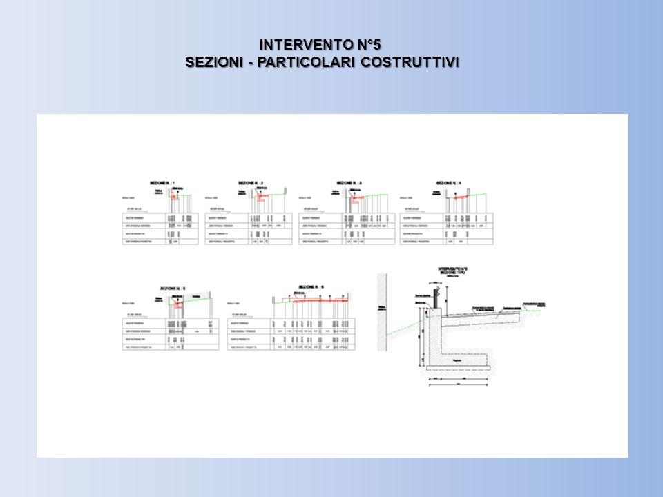 INTERVENTO N°5 SEZIONI - PARTICOLARI COSTRUTTIVI