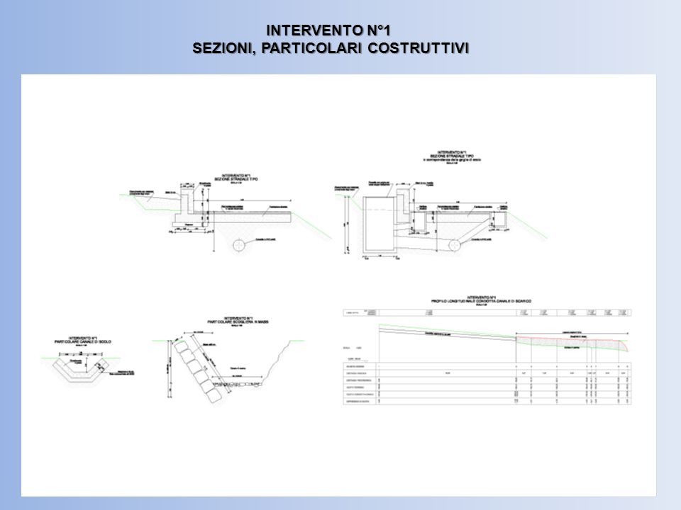 INTERVENTO N°1 SEZIONI, PARTICOLARI COSTRUTTIVI