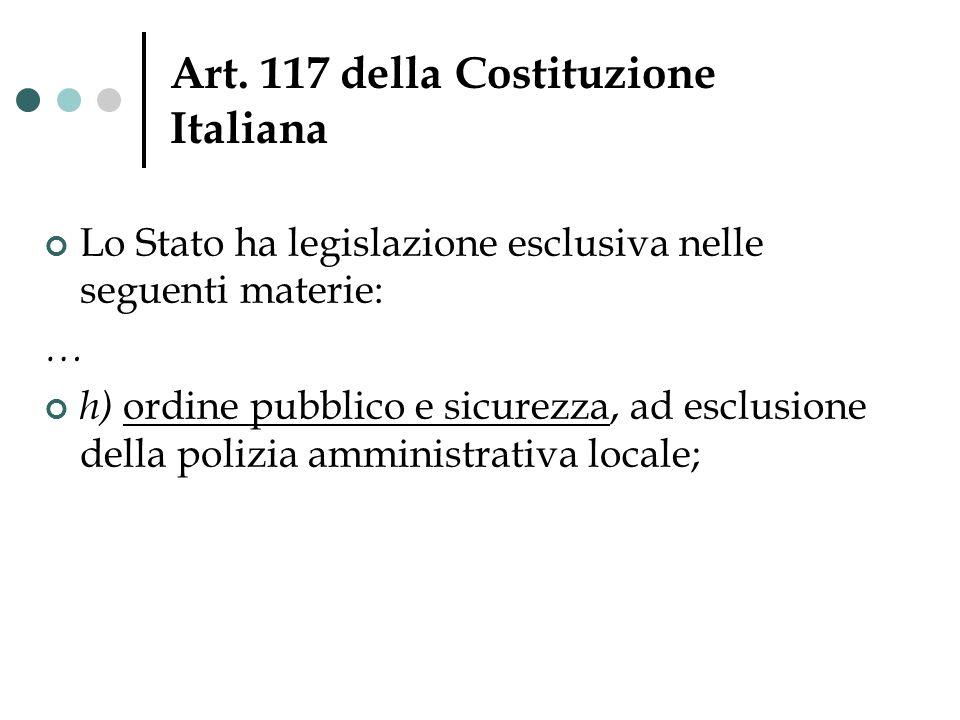 Art. 117 della Costituzione Italiana