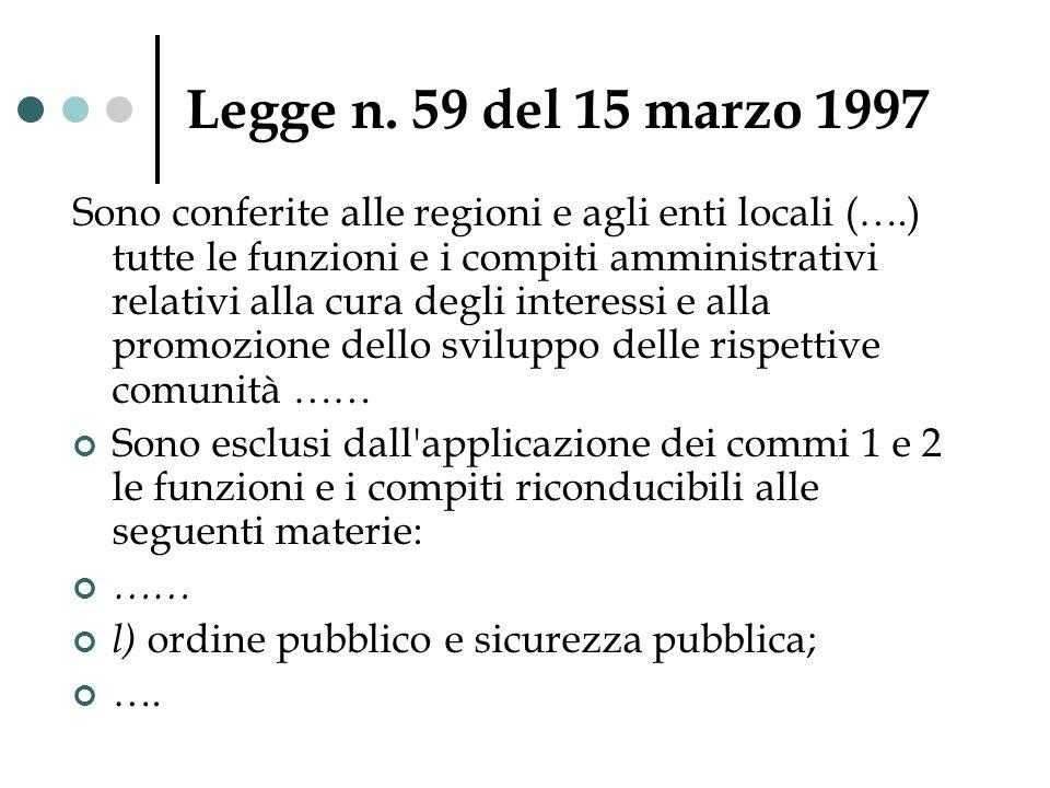 Legge n. 59 del 15 marzo 1997