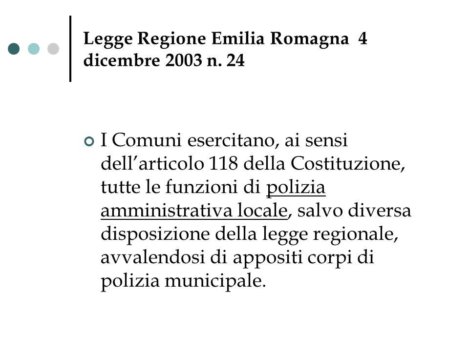 Legge Regione Emilia Romagna 4 dicembre 2003 n. 24