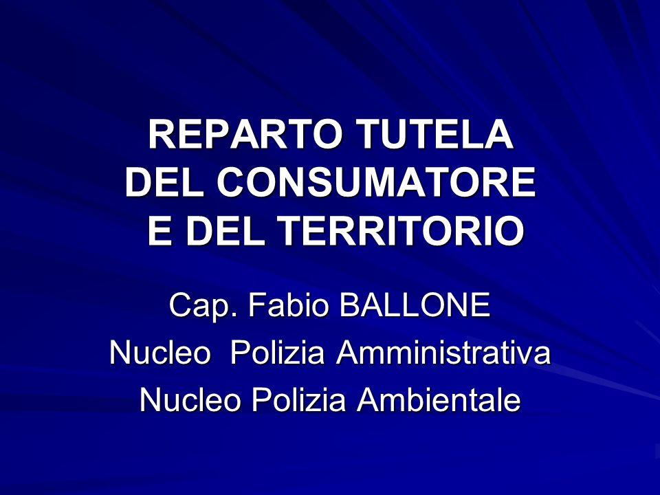 REPARTO TUTELA DEL CONSUMATORE E DEL TERRITORIO