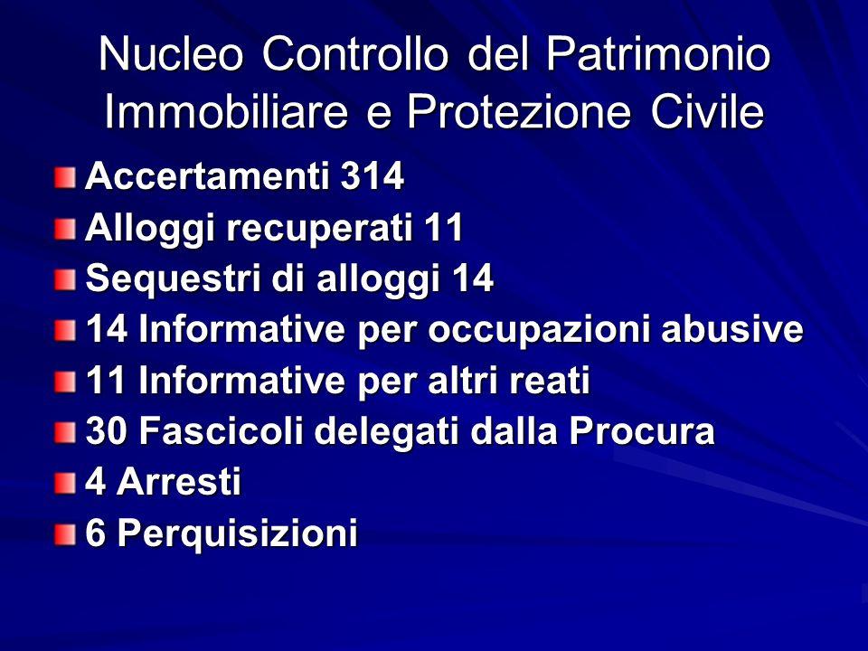 Nucleo Controllo del Patrimonio Immobiliare e Protezione Civile