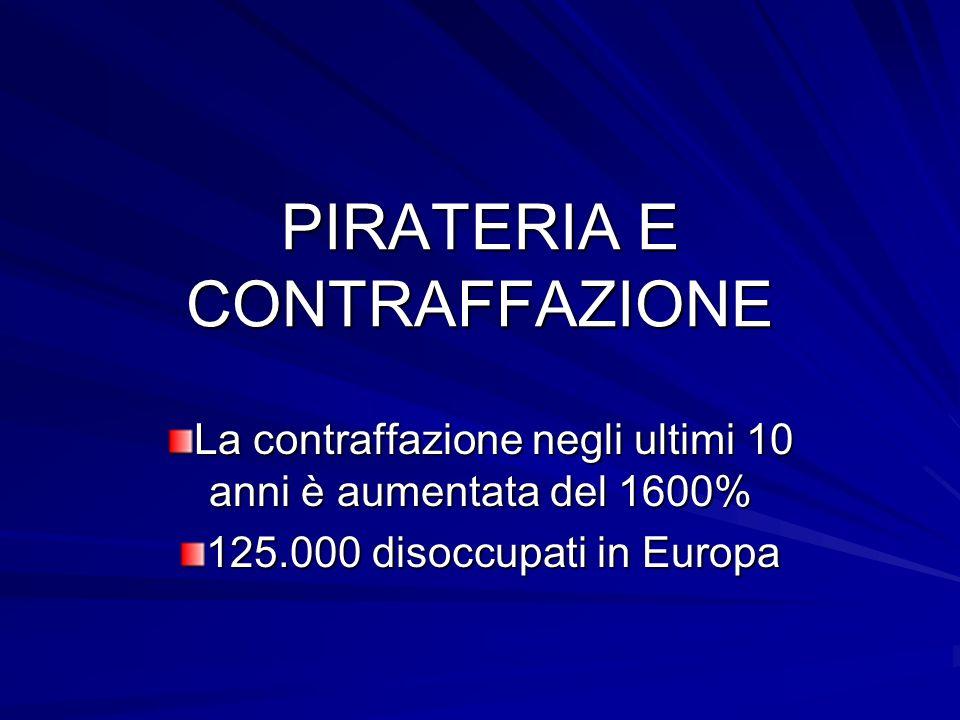 PIRATERIA E CONTRAFFAZIONE