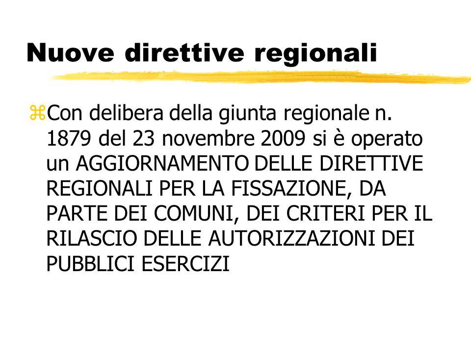 Nuove direttive regionali