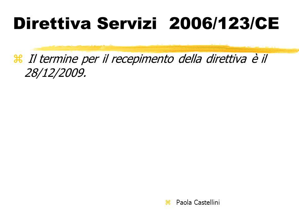 Direttiva Servizi 2006/123/CE