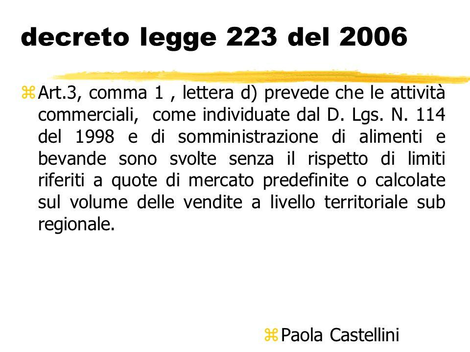 decreto legge 223 del 2006