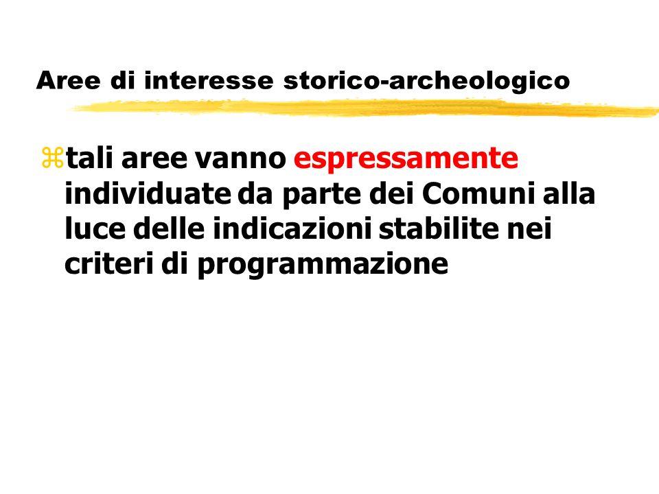 Aree di interesse storico-archeologico