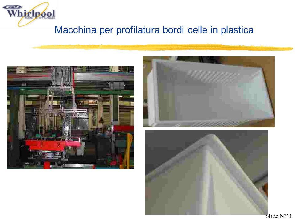 Macchina per profilatura bordi celle in plastica