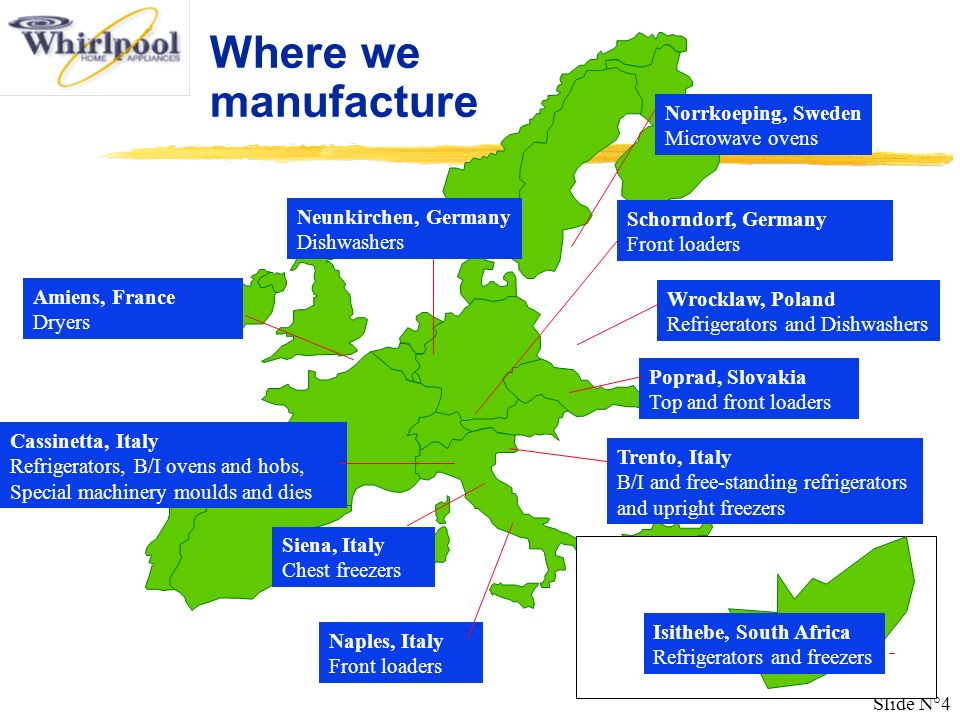 Where we manufacture Norrkoeping, Sweden Microwave ovens