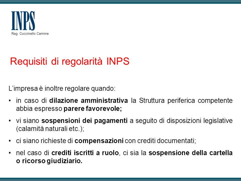 Requisiti di regolarità INPS